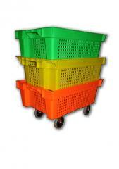 Ящики из пластика телескопические, вкладываемые