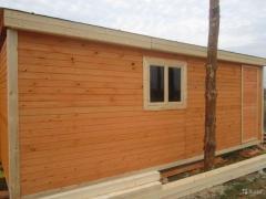 The wooden warmed change houses Kiev