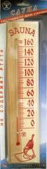Sauna thermometer and saunas