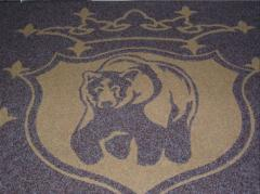 Carpets image with a logo or drawing TM GAPA