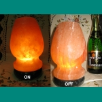 """Salt lamp """"Glass"""" on a support from a"""