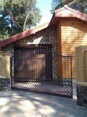 Ворота откатные бытовые, промышленные ворота,