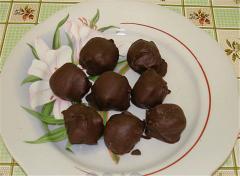 Шоколадные конфеты Курага в шоколаде