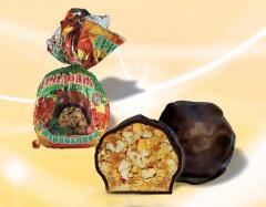 Шоколадные конфеты грильяж с клюквой