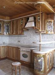 Kitchen facades with stained glass filling!