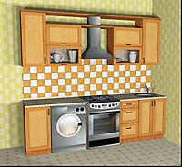"""Кухня """"Валерия"""" 2.6м. Фасад МДФ"""