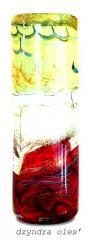 Вазы подарочные из стекла, вазы ручной работы