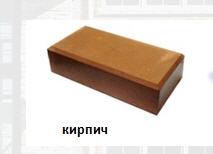 Плитка бетонная Кирпич