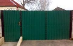 Ворота и калитки из профнастила(Киев, Киевская