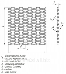 Expanded metal sheet