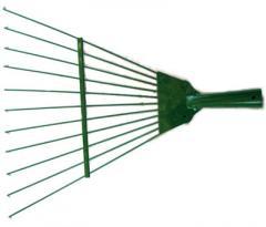 Metal lawn rake
