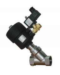 The valve with a pneumatic actuator