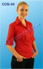 Blouses, shirts for waiters and bartenders the