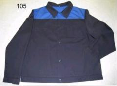 Jacket working direct silhouette, RO-03 Model
