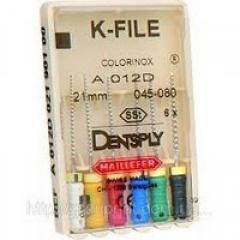 K-File, Dentsply Maillefer (K-файлы) 25мм, 6 шт/уп