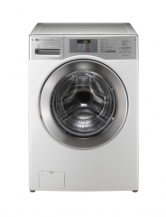 The professional washing machine with loading of