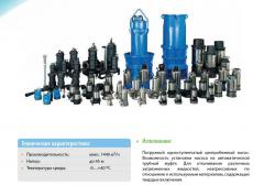 Pumps for water disposal and the sewerage SPCO