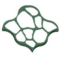 Forms for garden paths Round stones of 80х80х6 cm