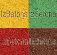 Dye for concrete, iron oxide.