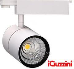 Track LED 40W lamp white, tire searchlight iguzini