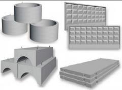 Products reinforced concrete (concrete goods)