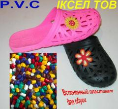 Raw materials for production of cast footwear from