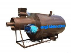 The drum dryer for sawdust, sand, ashes, chalk,