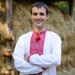 Вышиванка мужская белая из батиста