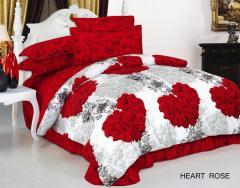 Комплект постельного белья ARYA Heart Rose сатин