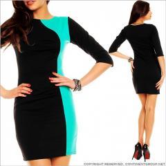 UTCG Прямое платье черного цвета 152681
