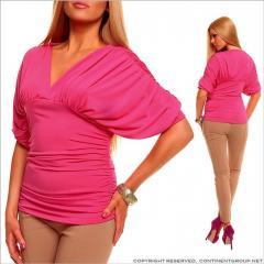 UTCG Розовая кофта с V - образным вырезом 148054