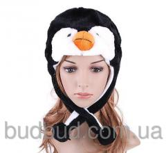 Детские шапки с ушками Пингвин