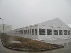Awning on the basis of a steel structure of 20 m x