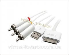 AV видео кабель для Ipod, Iphone c USB