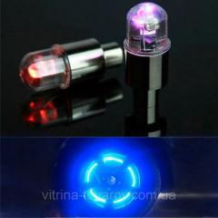 LED колпачок на ниппель колес (2 шт.)