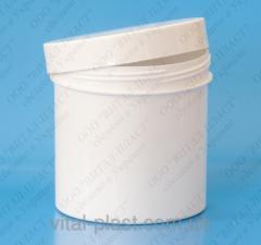 Jar of cosmetic 250 ml., white