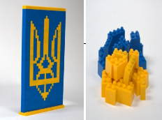 The designer's set like Lego the Coat of arms