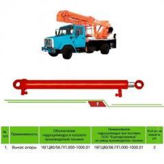 Hydraulic cylinders for crane trucks
