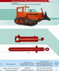 Hydraulic cylinder of a back hinge plate (main) of