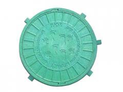 Люк канализационный пластиковый зеленый