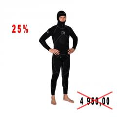 Diving suit for spearfishing of BS DIVER ULTRABLAC, 3 mm, river of 2XL