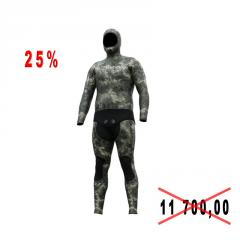 Diving suit for spearfishing of Picasso ULTIMATE SKIN 7 mm of river of XXL