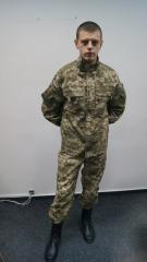 Suit of the Ukrainian army of new sample to animated cartoons. Summer.