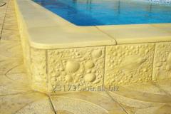 Бортовий камінь (копинг) для басейнів і тротуарна