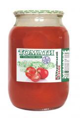 Tomatoes in tomato juice