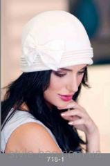 Женственная шапка №718-1