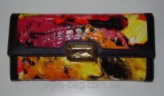 Цветной кошелек из лакированной кожи,  Enbery