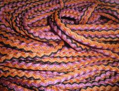 Knitted cords with filler, polypropylene.