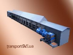 Транспортёр цепной скребковый (с загрузочными