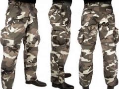 Field suits, heater under a bullet-proof vest,